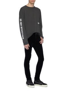 RtA 'Skeleton' slogan graphic print long sleeve T-shirt