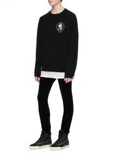 RtA Skull embroidered wool-cashmere sweater