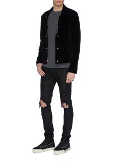 RtA Waistcoat panel velvet jacket