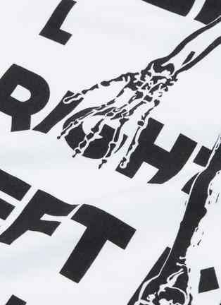 - RtA - 'Skeleton' slogan graphic print T-shirt