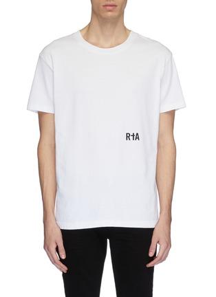 Main View - Click To Enlarge - RtA - 'Skeleton' slogan graphic print T-shirt