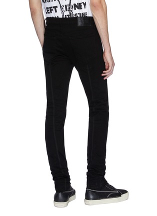 Back View - Click To Enlarge - RtA - Cross embroidered back seam skinny jeans