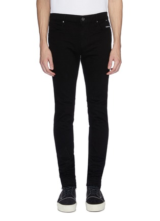 Main View - Click To Enlarge - RtA - Cross embroidered back seam skinny jeans