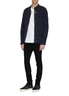 RtA Cross embroidered back seam skinny jeans