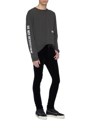 Figure View - Click To Enlarge - RtA - Velvet skinny pants