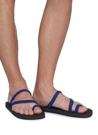 Figure View - Click To Enlarge - DANWARD - Toe ring strappy flip flops