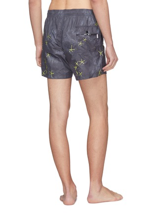 Back View - Click To Enlarge - DANWARD - 'Capri' starfish embroidered swim shorts