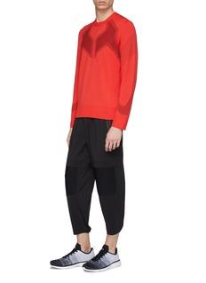 BLACKBARRETT Geometric jacquard knit sweatshirt