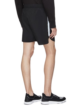 Back View - Click To Enlarge - BLACKBARRETT - Reflective stripe outseam track shorts