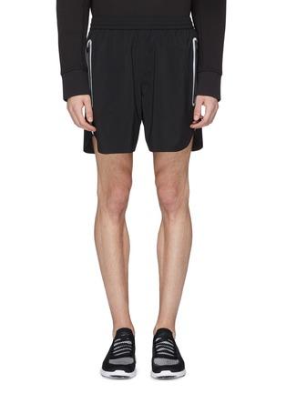 Main View - Click To Enlarge - BLACKBARRETT - Reflective stripe outseam track shorts