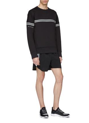 Figure View - Click To Enlarge - BLACKBARRETT - Reflective stripe outseam track shorts
