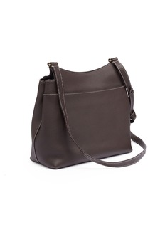 The Row 'Sideby Equestrian' contrast topstitching leather flap bag