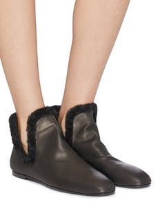 The Row 'Eros' shearling ankle boots