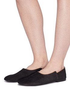The Row 'Boheme' staggered suede flats