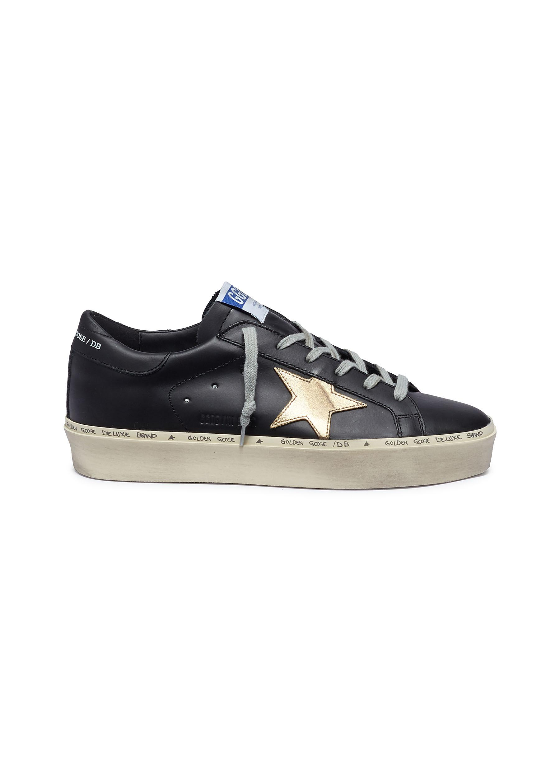 Hi Star leather flatform sneakers by Golden Goose
