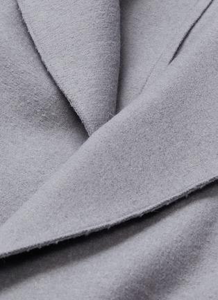 - SENTALER - Belted ribbed sleeve wrap coat
