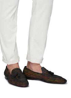 CASABLANCA1942 'Cesare' woven raffia tassel loafers