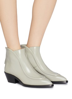 Jil Sander Curved piping leather ankle boots