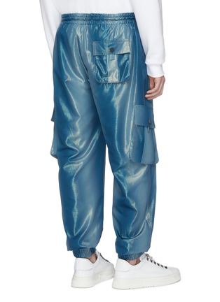 Back View - Click To Enlarge - Feng Chen Wang - Metallic cargo jogging pants