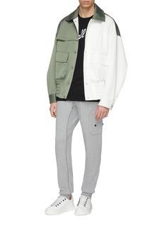 Feng Chen Wang Colourblock oversized bomber jacket