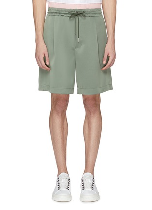 Main View - Click To Enlarge - Feng Chen Wang - Snap button side pleated shorts