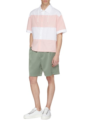 Figure View - Click To Enlarge - Feng Chen Wang - Snap button side pleated shorts