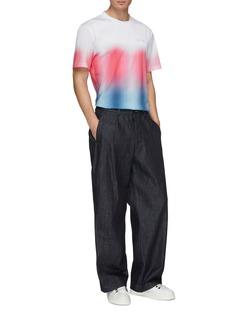 Feng Chen Wang 'My Half' slogan embroidered gradient colourblock T-shirt