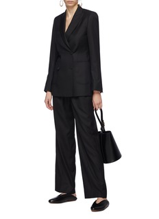 Alex Eagle Pleated wool-silk suiting pants