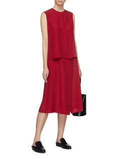 Alex Eagle Asymmetric panel silk satin skirt