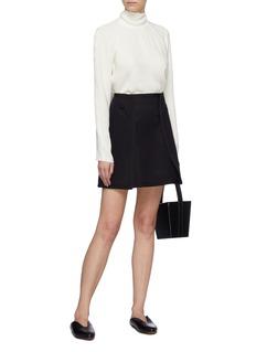 Alex Eagle Panelled wool melton skirt