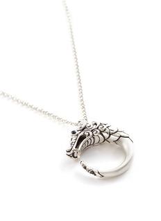 John Hardy 'Legends Naga' sapphire spinel silver pendant necklace