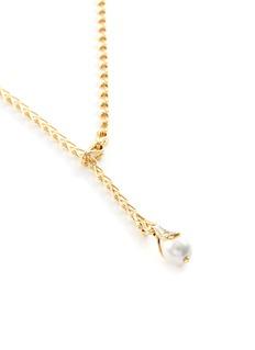 John Hardy 'Bamboo' diamond pearl 18k yellow gold necklace