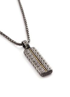 John Hardy 'Chain Jawan' 18k yellow gold rhodium silver pendant necklace