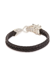 John Hardy 'Legends Naga' sapphire silver leather bracelet