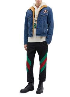 Gucci Slogan appliqué denim jacket