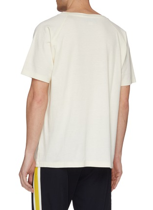 Back View - Click To Enlarge - Gucci - 'Loved' slogan logo tiger print raglan T-shirt