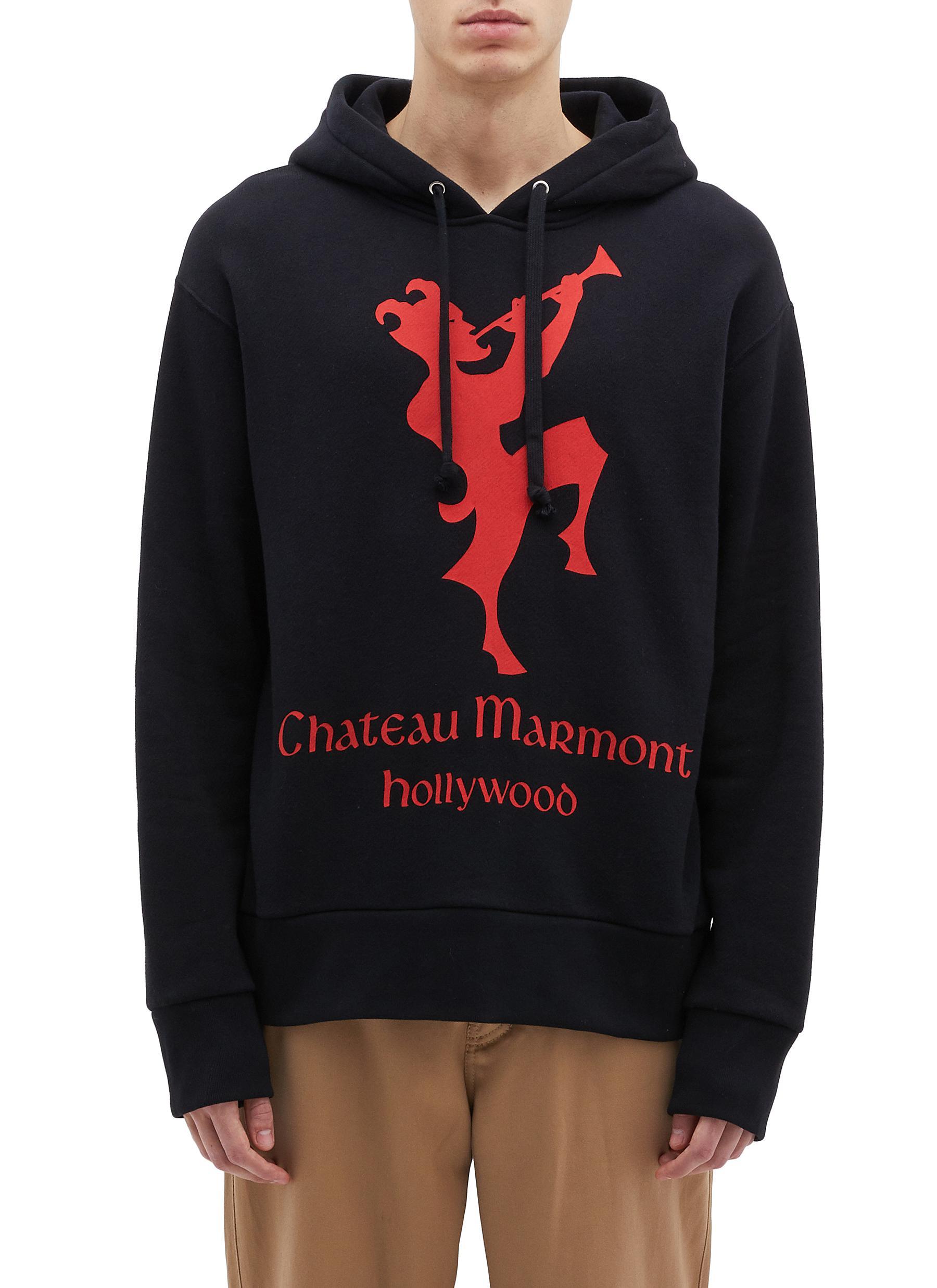 792b96f88379 GUCCI | 'Chateau Marmont' graphic print hoodie | Men | Lane Crawford