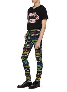 Gucci Mix logo print skinny jeans