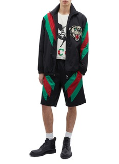 Gucci Web stripe panther appliqué track jacket