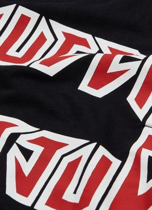 - GUCCI - Metal logo print oversized T-shirt