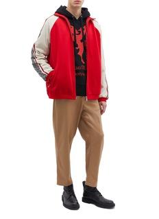 Gucci GG logo stripe sleeve colourblock track jacket