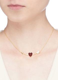 HEFANG 'Crush' cubic zirconia silver pendant necklace