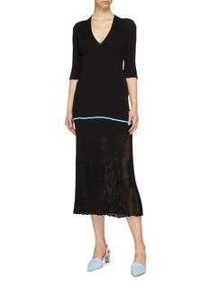 Victoria Beckham V-neck rib knit top
