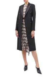 Victoria Beckham Peaked lapel double breasted oversized tuxedo coat