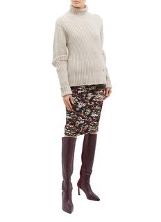 Victoria Beckham Camouflage jacquard knit skirt