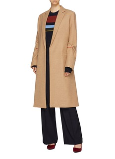 Victoria Beckham Tucked sleeve virgin wool melton coat