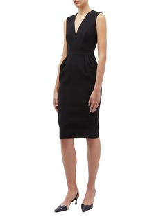 Victoria Beckham V-neck crepe sleeveless dress