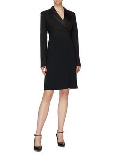Victoria Beckham Virgin wool-mohair tuxedo dress