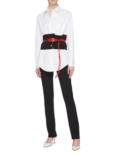 Victoria Beckham Belted waist panel shirt