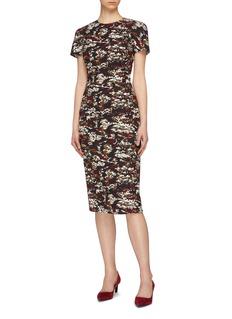 Victoria Beckham Camouflage jacquard T-shirt dress